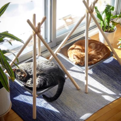 The Tinker Adventure Tent - a cat hammock, cat tent, cat bed all in one clean design.